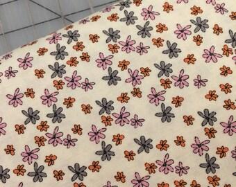 Riley Blake Designs- HALF YARD cut of Zombie Love - Small Flower on Cream