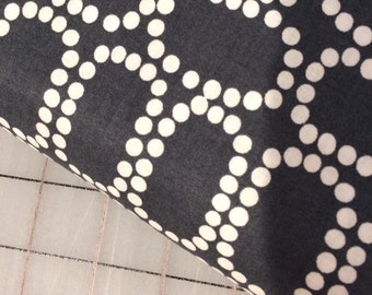 Fat quarter cut of  Downtown - Small Ringlets - Windham Fabrics in Gray - white dots