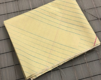 Windham Fabrics - FAT QUARTER cut of Jot - College Ruled in Sunshine by Heather Givans - 50455-2