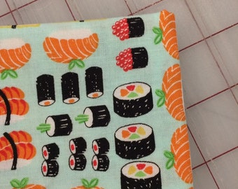 HALF YARD cut of Timeless Treasures - Sushi on light blue