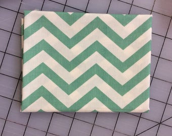 Birch Fabrics - FAT QUARTER cut of Organic Cotton - Mod Basics - Skinny Chevron - MB2-04-Pool