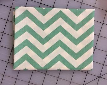 Birch Fabrics - FAT QUARTER cut of Organic Cotton - Mod Basics - Skinny Chevron - MB2-04-Pool