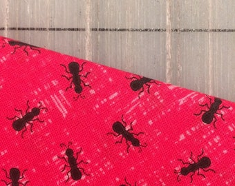 HALF YARD cut of Timeless Treasures -  Watermelon Party- Ant Seeds in Pink
