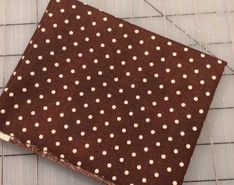 FAT QUARTER cut of Julia - Dots in Brown - Whistler Studios