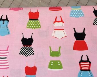 HALF YARD cut of Riley Blake- 2016 Designer Novelty - Swimsuits - in Pink C6061 - 100% cotton