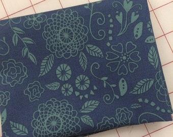 Riley Blake - FAT QUARTER cut of Wildflower Boutique - Line Work in Blue