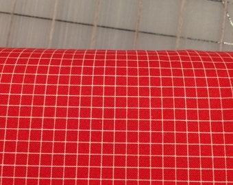 Windham Fabrics - Half Yard cut - Coast To Coast - Grid in Red by Whistler Studios