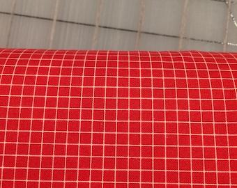 Windham Fabrics - Half Yard cut - Coast To Coast - Grid in Red by Whistler Studios