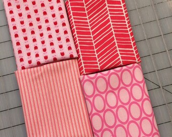Set of 4 - Pink Fat 8 Cuts - Set #113