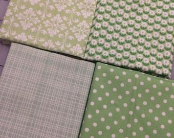 Set of 4 - Green Fat 8 Cuts - Set #115