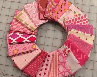 Bundle of 20 -  Pink Fat 16th cuts - Set #201