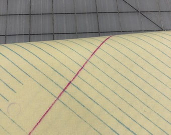 HALF YARD cut of Windham Fabrics - Jot - College Ruled in Sunshine by Heather Givans - 50455-2