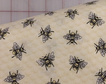 HALF YARD cut of Hive Rules - Tossed Bees by Timeless Treasures