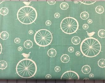 HALF YARD cut of Organic Cotton - Mod Basics - Birdie Spokes - MB-03-Pool