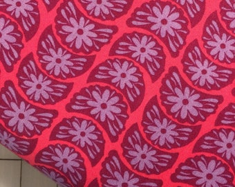 Half Yard cut of Anna Maria Horner- True Colors - Crescent Blooms - PWTC002  - in Ruby