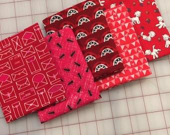Set of 5 - Red I Spy Fat 8 Cuts - Set #104