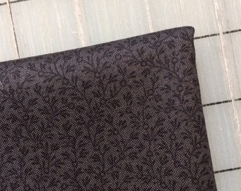 Color Wall - FAT QUARTER cut of Mini Vine in Raven by Mary Koval - Charcoal Blender