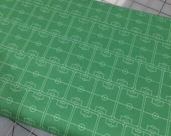 Half Yard Cut of Soccer Field in Green by Deena Rutter for Riley Blake