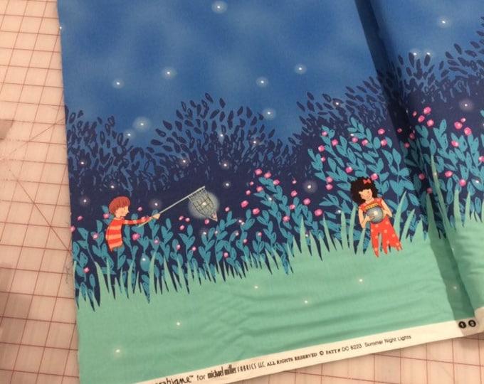 Half Yard Sarah Jane - Wee Wander - Summer Night Lights Border print