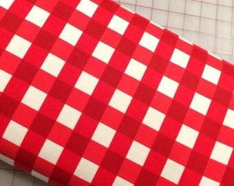 HALF YARD Flannel  - Winterberry - Plaid in Red by Riley Blake Designs