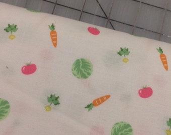 HALF YARD cut of Michael Miller - Bunny's Garden-  Little Nibbles in Lettuce