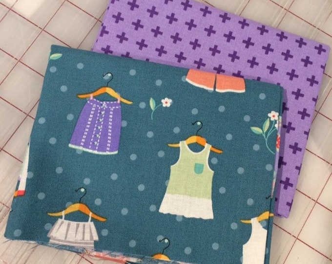 FAT QUARTER Set of Two -  Dress Up in Spring #10