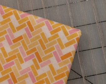 Riley Blake - FAT QUARTER cut of Rhapsody - Parquet in Yellow - C8413 by Sedef Imer
