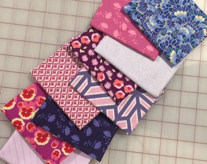 Bundle of Thirteen -  Purple Fat 8 cuts - Set #134