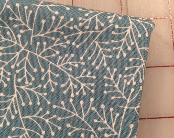 HALF YARD cut of Critter Tails - Juniper in Teal by Michael Miller