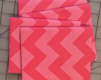 Riley Blake Designs - FAT QUARTER cut of Medium Chevron- Tone on Tone in Hot Pink