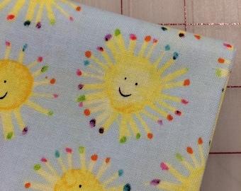 Rain or Shine - FAT QUARTER cut of Maria Carluccio -  Sunshine in blue for Windham Fabrics