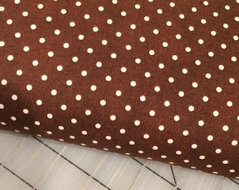 HALF YARD cut of Julia - Dots in Brown - Whistler Studios