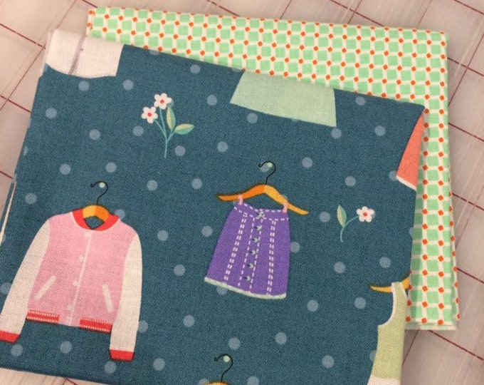 FAT QUARTER Set of Two -  Dress Up in Spring #4