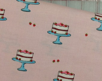 HALF YARD cut of What's Cooking - Strawberry Delight in Pink by Michael Miller