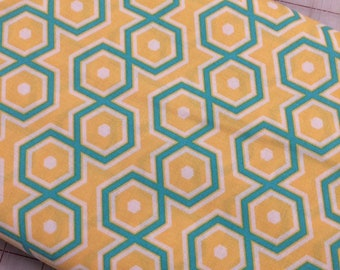HALF YARD cut of Joel Dewberry Notting Hill - Hexagons in Canary PWJD062