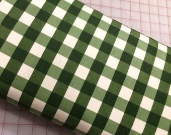 HALF YARD Flannel  - Winterberry - Plaid in Green by Riley Blake Designs