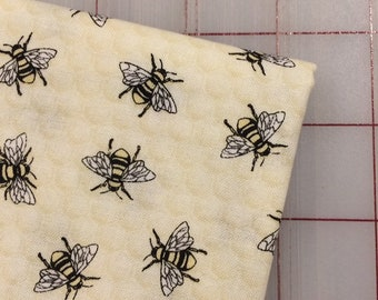 FAT QUARTER cut of Hive Rules - Tossed Bees by Timeless Treasures