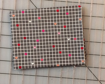 Riley Blake - Lovebugs Collection FAT QUARTER cut of Grid in Gray C5053