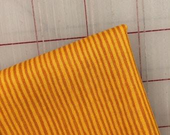 Sweet Oak by Striped Pear Studio - FAT QUARTER cut of Stripe in Mustard/Gold - Organic Cotton for Windham Fabrics
