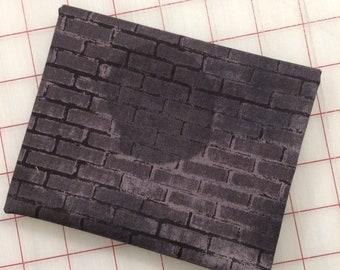 FAT QUARTER cut of Unstoppable - Painted Brick in Charcoal by Whistler Studios for Windham Fabrics