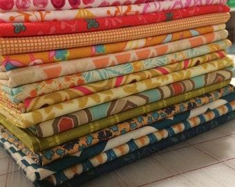 Set of 16 Fat Quarters - Rainbow of Assorted Designers #63