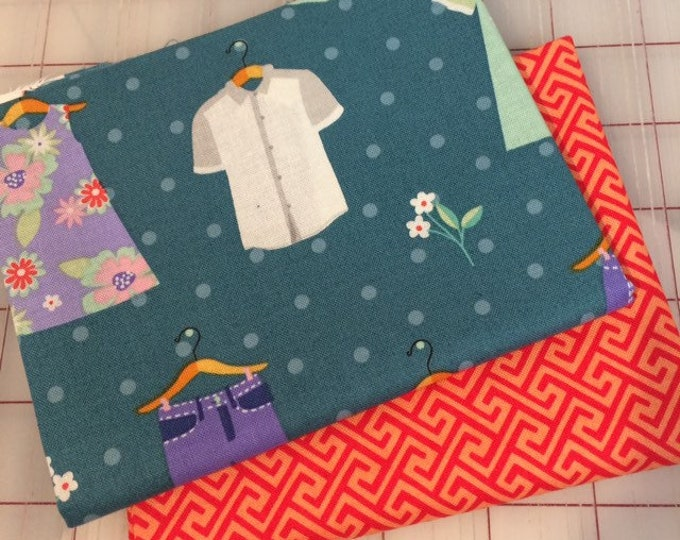 FAT QUARTER Set of Two -  Dress Up in Spring #3