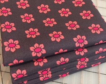 Mod Corsage - FAT QUARTER cut of Stamped in Coral **FQ's only**