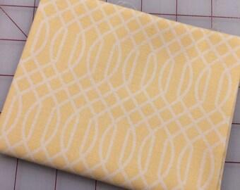 FAT QUARTER cut of Flower Market - Geometric in Yellow by Jen Allyson for Riley Blake