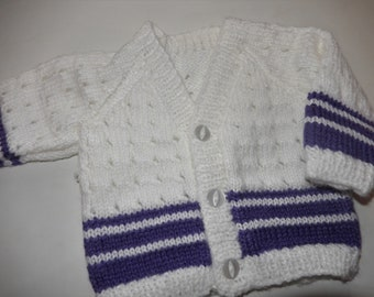 3640a395e Hand knitted baby cardigan   hand knit sweater   mint green