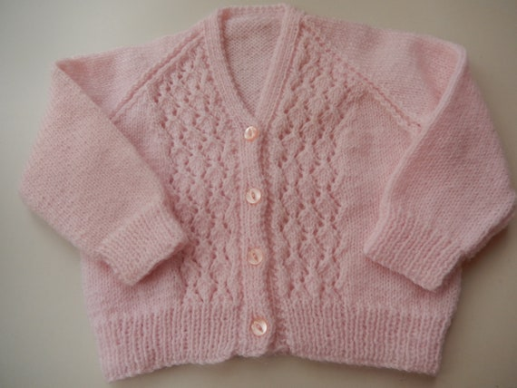 6cb80c574812 knitted baby sweater   pink sweater   6-9 month girls cardigan