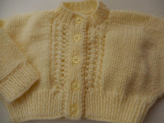 babies cardigans lemon 3-6  months