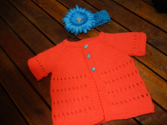 5b203c803 hand knitted short sleeve baby cardigan   baby sweater in