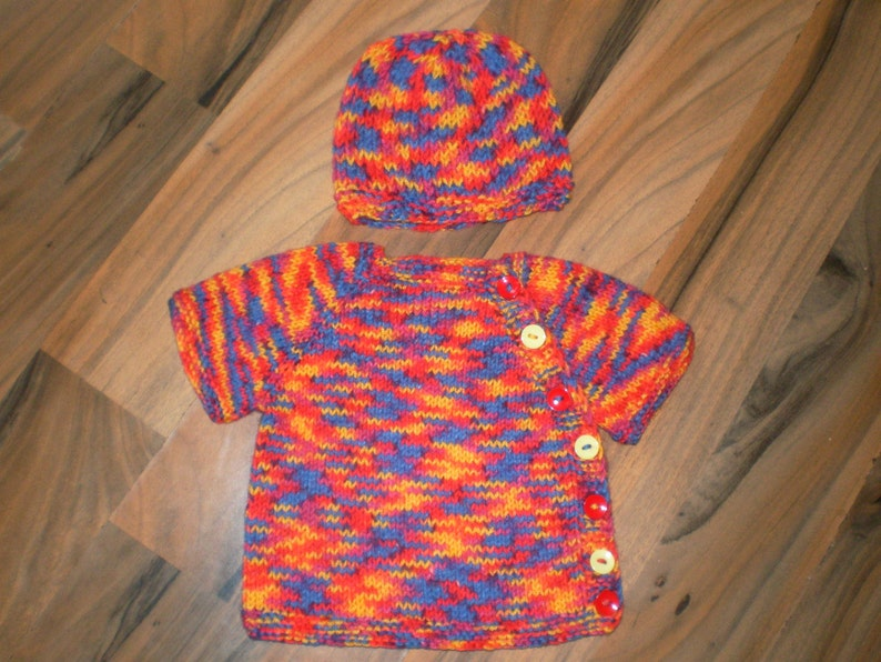 b15a28293 Knitted baby cardigan   hand knit baby hat   boys sweater