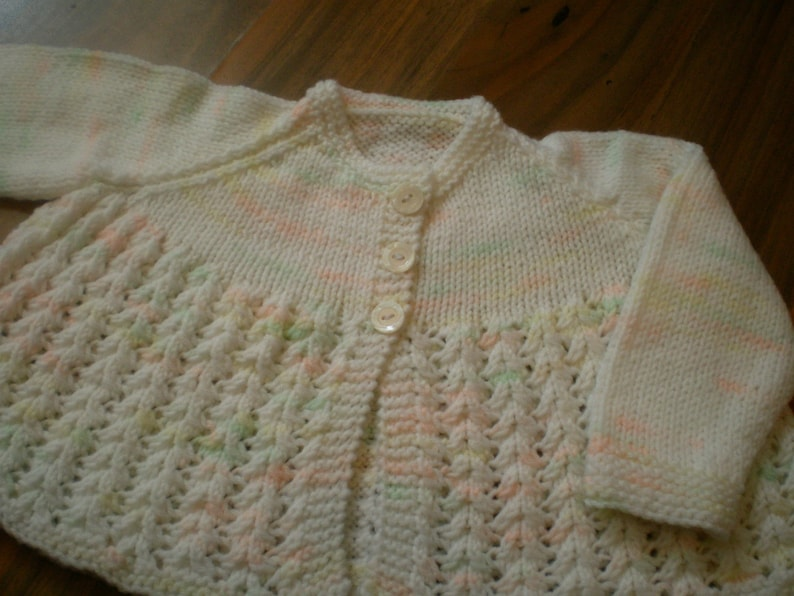 65df8e2dd Hand knitted baby matinee jacket   cardigan   baby sweater